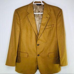 Jos A Bank 100% Cashmere 2 Button Sport Coat Brown